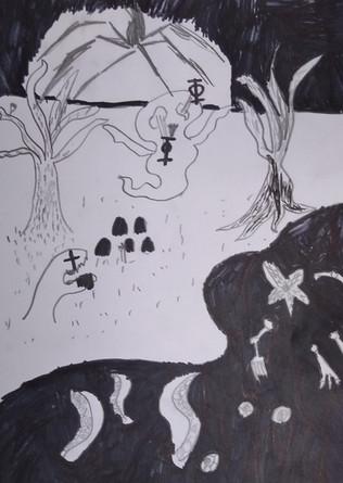 Halloween Drawing by Rhylen