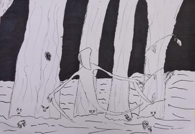 Halloween drawing by Samson