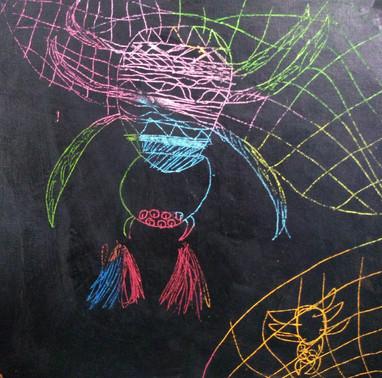 Scratch art by Archie