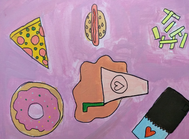 Shapes in food painting by Ginger