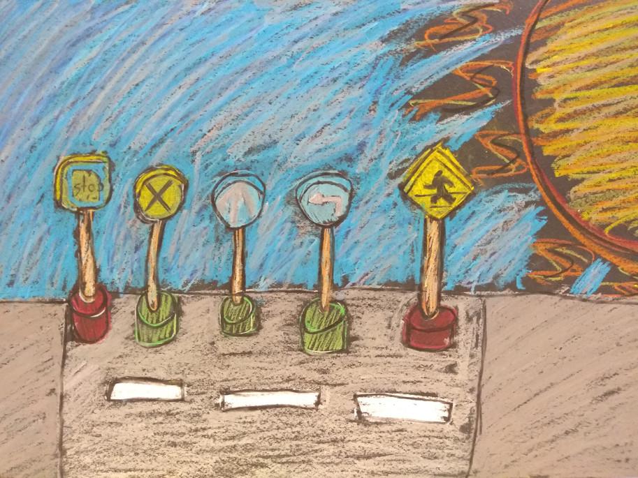 Still Life in Oil Pastels by Emma G