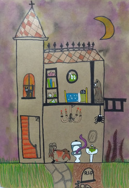 Haunted house by Clementine