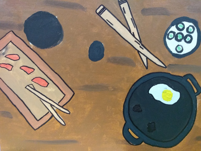Shapes in food painting by Kyus