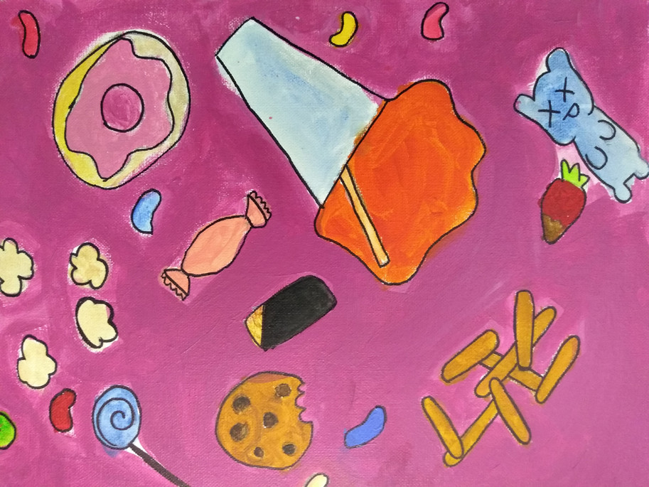 Shapes in food painting by Sofia
