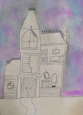 Haunted house by Astrid