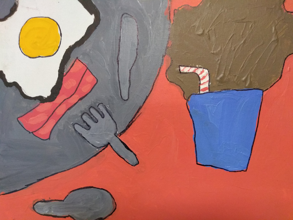 Shapes in food painting by Amelia