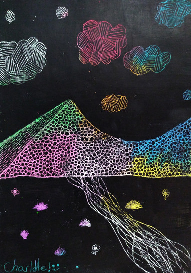 Scratch art by Charlotte