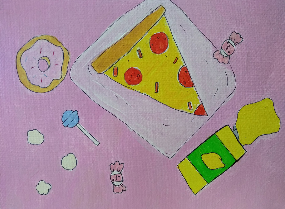 Shapes in food painting by April