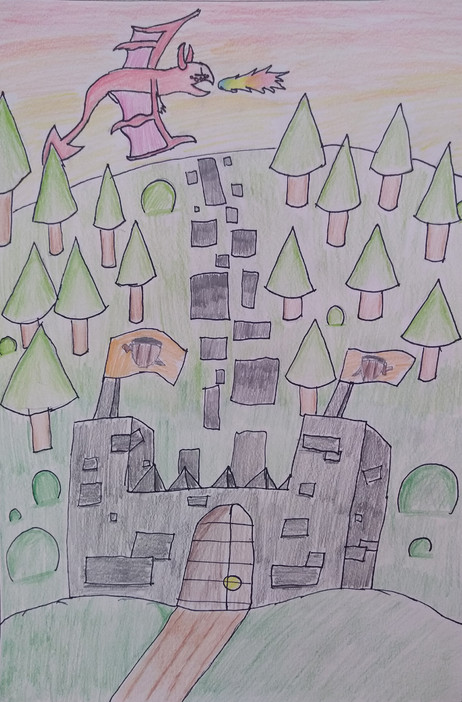 Forms in Landscape Drawing by Amber