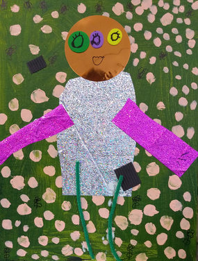 Mixed media artwork by Missy