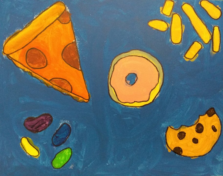Shapes in food painting by Rose