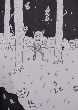 Halloween drawing by Rosie