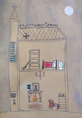 Haunted house by Linda