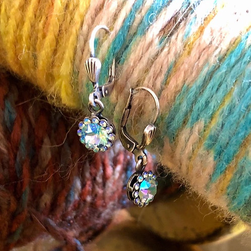 Pale Blue Crystal earrings