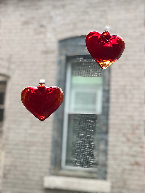 Kitras Art Glass hearts