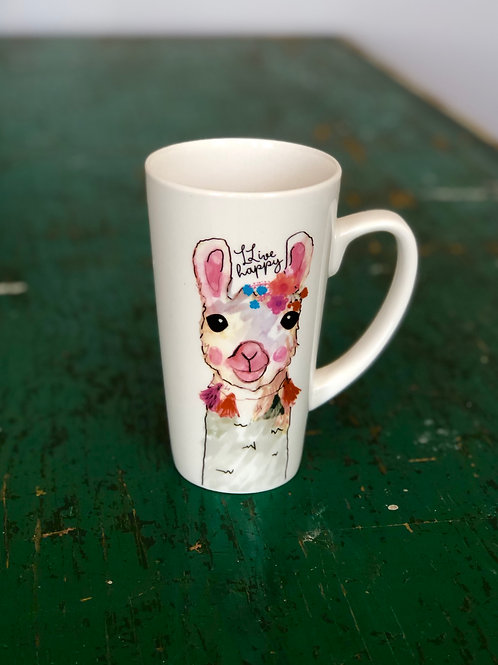 Llive happy llama mug