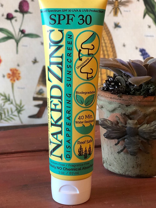 Naked Zinc Disappearing Sunscreen 3oz.