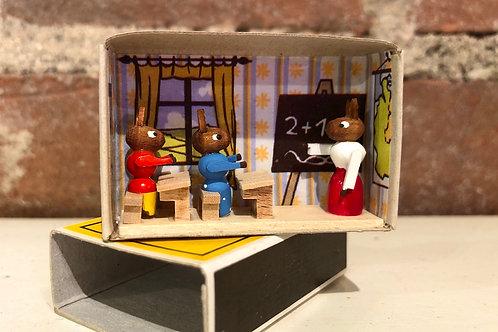 Classroom German matchbox scene