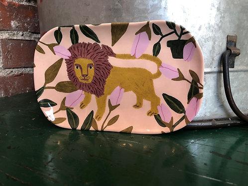 Pretty pink lion dish