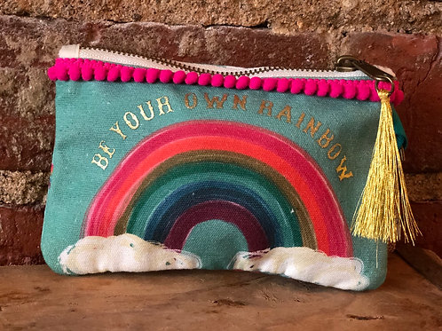 Be Your Own Rainbow zippered pouch