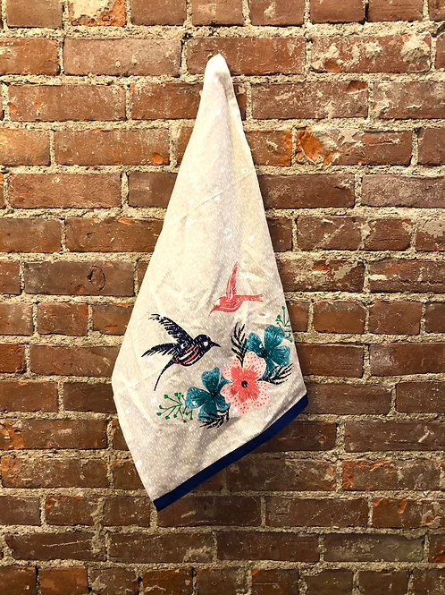 Hummingbird towel