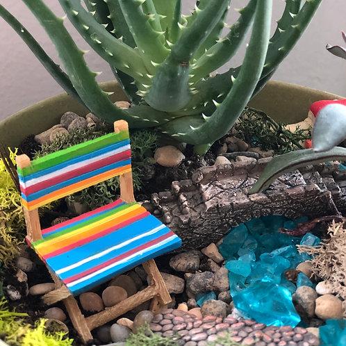 Fairy garden rainbow chair
