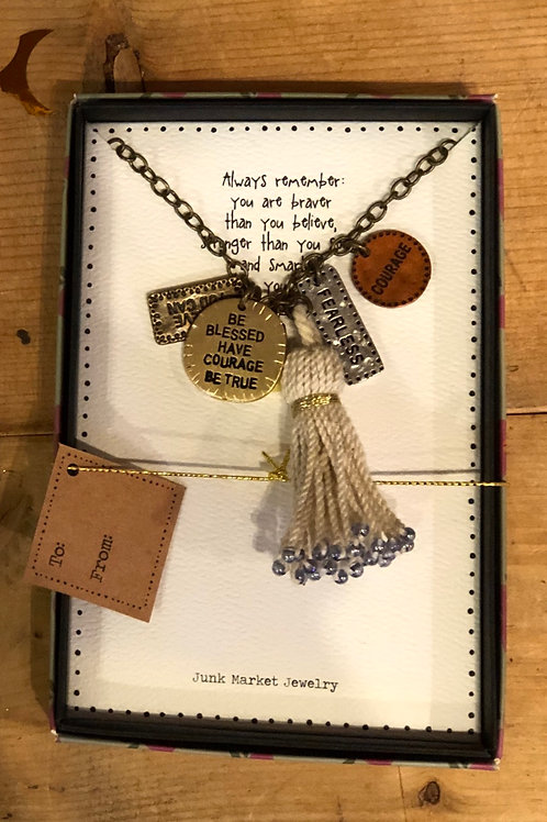 Be Blessed Have Courage Junk Market Jewelry