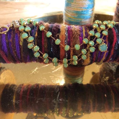 Jade crystal bracelet