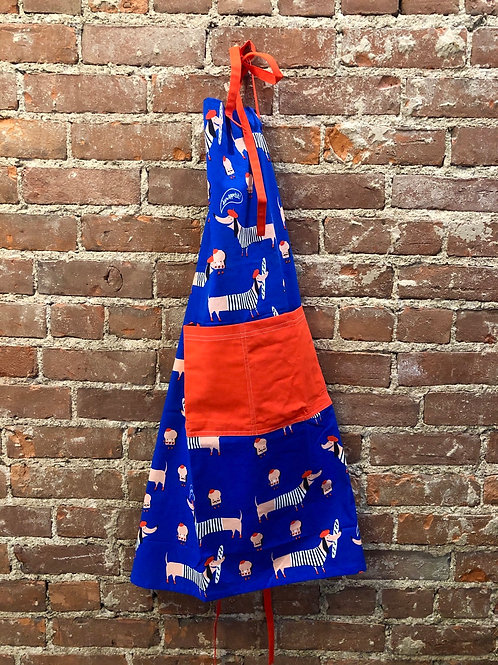 French doggy print apron