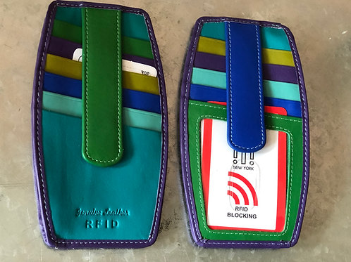 Rounded RFID blocking wallets