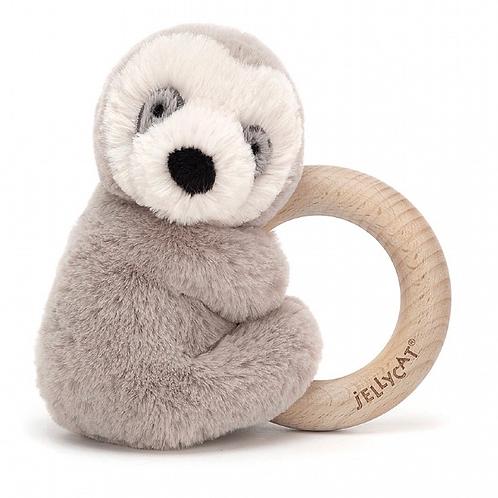 Shooshu Sloth Wooden Ring rattle