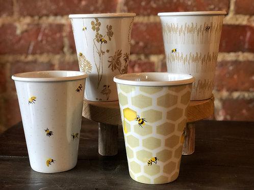 Bee cups, set of 4