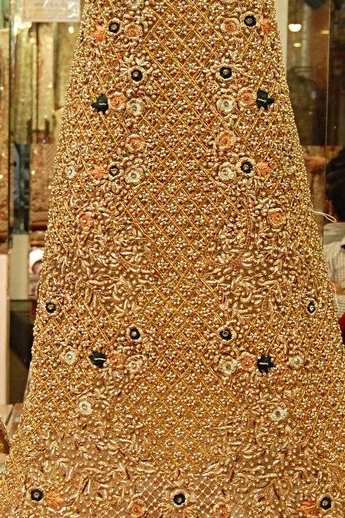 Gold bead/zardozi work