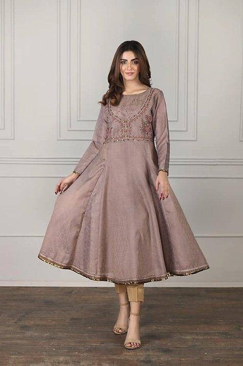 Cotton embroidered frock