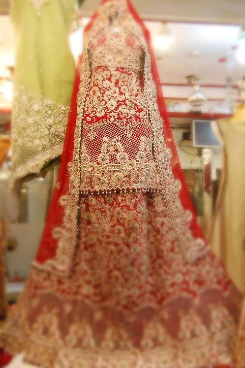 Red Bridal with Stone/zardozi work