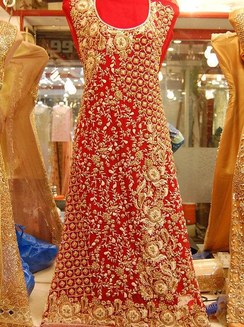 Red with Stone/zardozi work