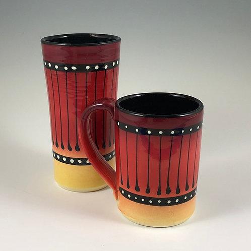 Black Stripe Mug or Tumbler Style #4