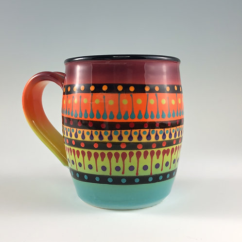 Multi Stripe Barrel Mug