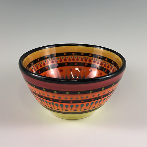 "4"" Multi Stripe Double Sided Bowl"