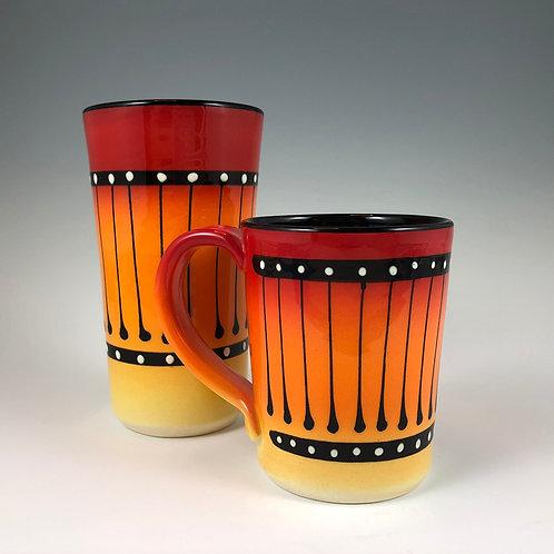 Black Stripe Mug or Tumbler Style #11