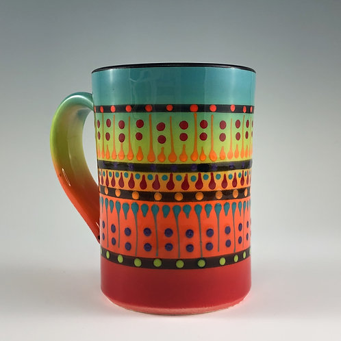 Multi Stripe Mug