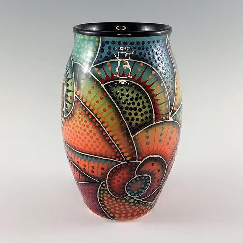 """7"""" Crazy Carved Vase"""