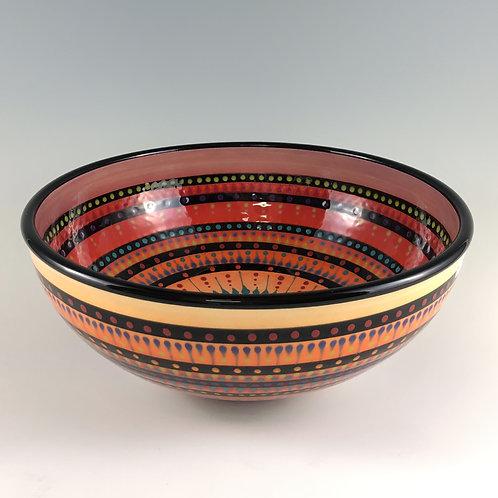 "10"" Multi Stripe Double Sided Bowl"