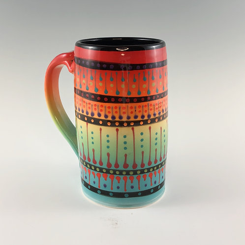 Multi Stripe Beer Mug