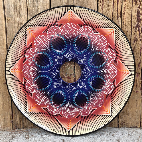 "19"" Mandala and Dreamcatcher Platter"