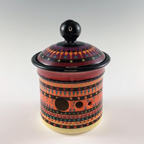 Multistripe Garlic Jar