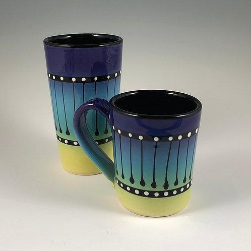 Black Stripe Mug or Tumbler Style #5