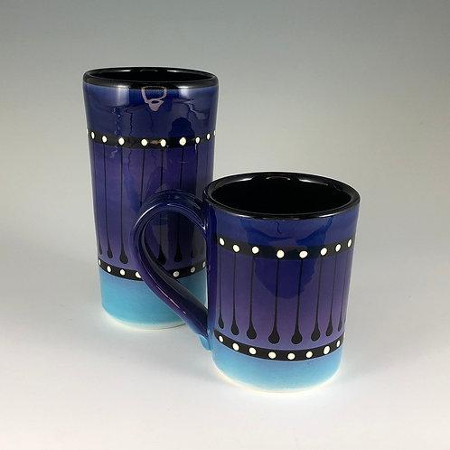 Black Stripe Mug or Tumbler Style #2