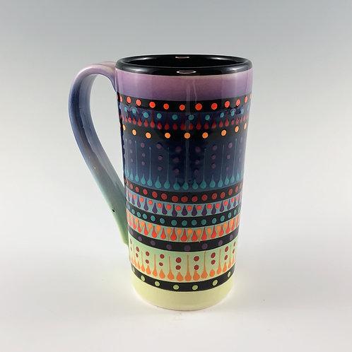 Multi Stripe Tall Mug