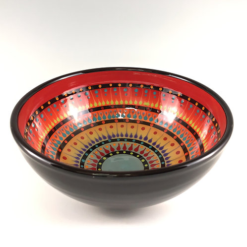 "8"" Multi Stripe Bowl"
